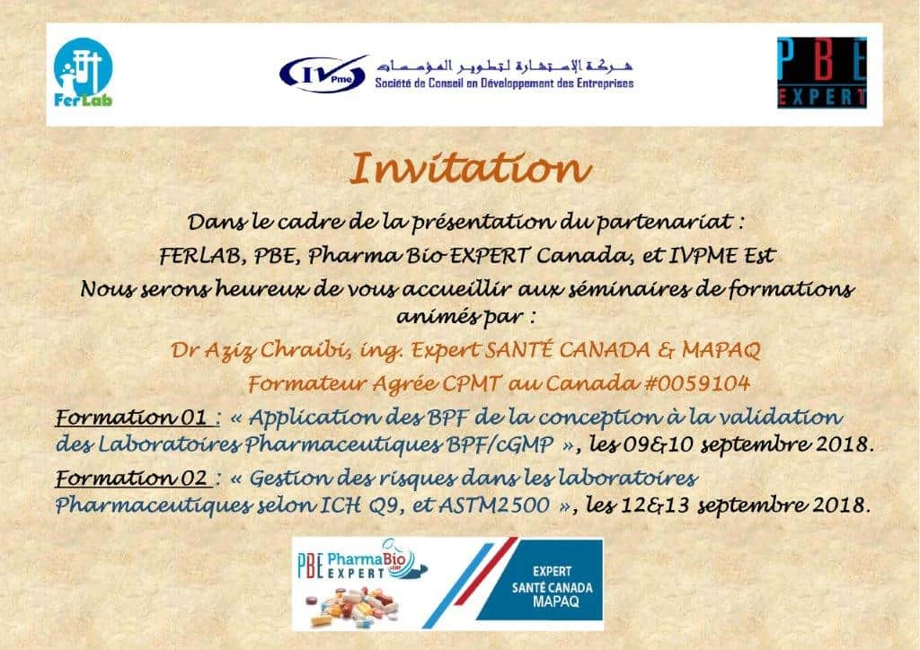 invitation séminaires CONSTANTINE - 09-13 SEPT 2018